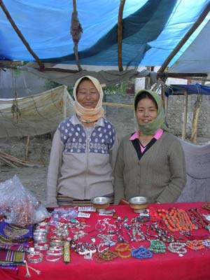 A jewelry booth in Leh