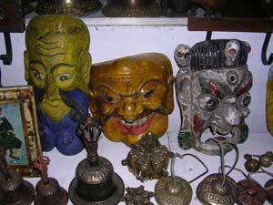Masks for sale at a shop in Leh