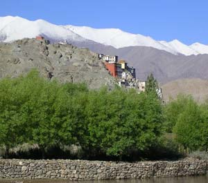 The Spitok Monastery, set in one of the many splendid vistas on the way to Leh