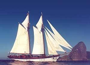 The Tocorime with her sails set - photos courtesy of GAP Adventures