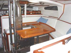 The cabin of the 'Spirit of Sydney'