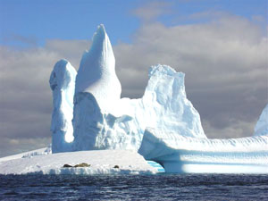 An ice castle in the Southern Ocean