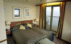 A cabin aboard the MS Finnmark