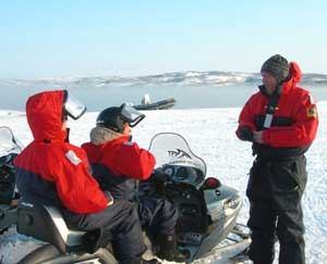 Snowmobiling up at Arctic Adventures
