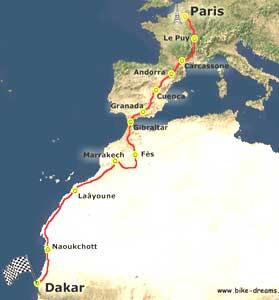 The Paris Dakar race will cover 4,350 miles. Photos courtesy of Bike-Dreams.com