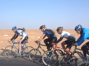 A bike race in the desert