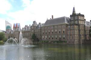 The parliament building in the Hague