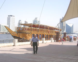 The author on the waterfront in Dubai.