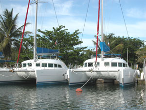 Catamarans at Sunsail