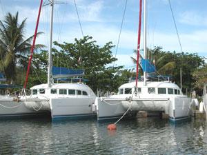 Catamarans at Sunsail