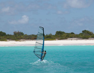 Windsurfing in Barbuda