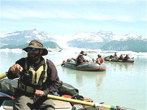 Rafting on Alsek Lake - photo by T. Joyce
