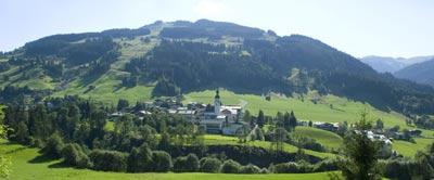 Jochberg, near Kitzbuhel, also has a ski area and is great for hiking. photo Kitzbuhel Tourismus.