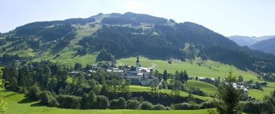 Jochberg, near Kitzbuhel, also has a ski area and is great for hiking. photo Kitzbuhel Tourismus.