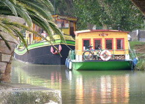 Houseboats on the Canal du Midi