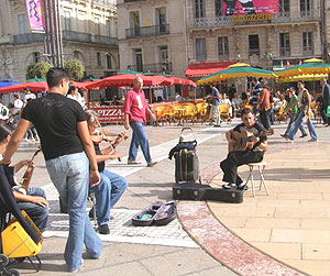 Musicians in Montpellier Square