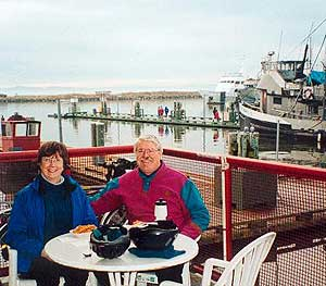 Chris and Rick Millikan at the Steveston Docks