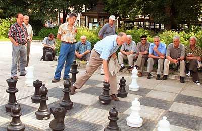 Chess game in Sarajevo