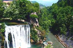 Falls on the Vrbas River