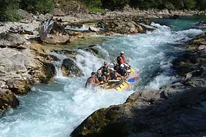 Rafting on the Neretva