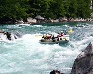 White water on the Neretva