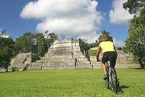 The pyramid at Caracol - photos by Matthew Kadey
