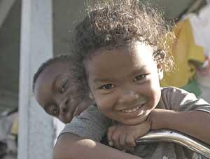 Children in Georgeville