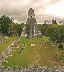 The pyramid at Tikal