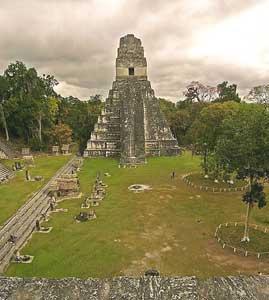 The pyramid at Tikal