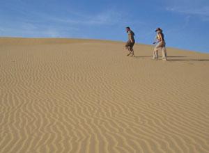 Textured sand dunes