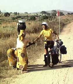 Cycling in Africa is a good way to make new friends and learn about new cultures. Photos courtesy of BikeAfrica
