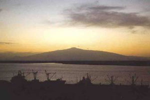 Sunset over Mount Cameroon