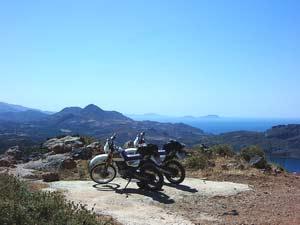 Scenic vista near Sellia Crete, Greece.