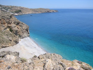 A beach on Crete's rocky coast - photos by Jame Sue Winkelman