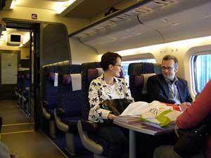 Aboard Sweden's X-2000 train - photos by Kent St. John