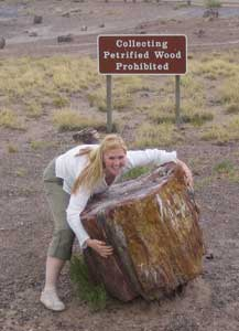Connie at The Petrified Forest