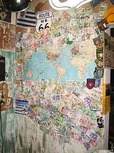 The map at the Hackberry General Store