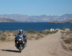Baja motorcycle trip: A coastal resort outside Bahía de Los Angeles - photos by Jamie Winkelman