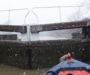 Navigating the locks in a blizzard