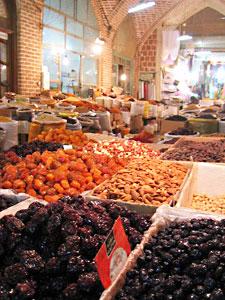 Dates in the world famous Tabriz Bazaar