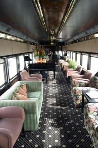 Relax in your own private living room on a private rail car.