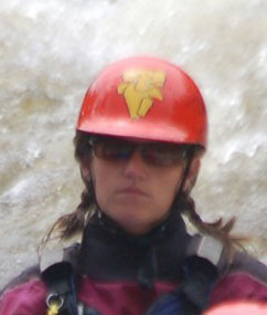 Mary gets serious when she needs paddlers.