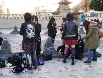 The Harajuku girls! Gothic, colourful, generally different