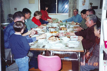 A ZMC legacy was the establishment of the Thanksgiving Day meal tradition at Saku Holy Family Mission.