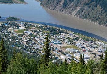 A bird's-eye view of Dawson City