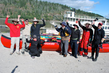 Finishers in Dawson City