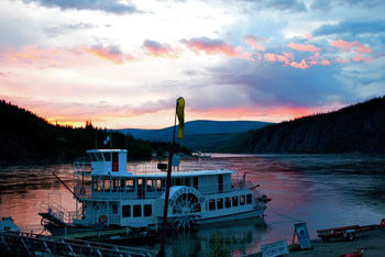 Sunset in Dawson City