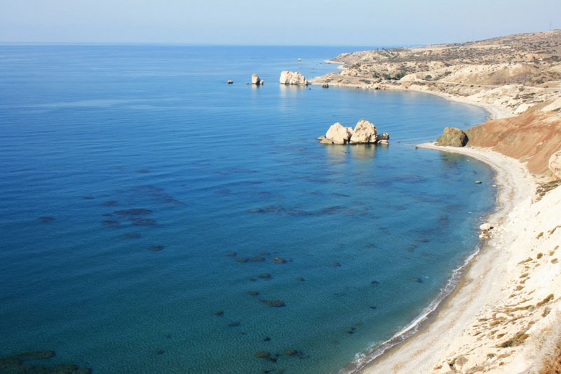 Petra tou Romiou, Cyprus, the legendary birthplace of Aphrodite