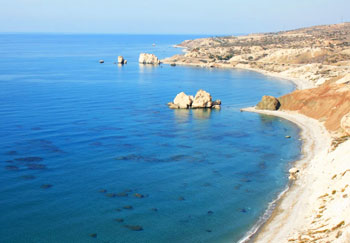 Petra tou Romiou, Cyprus, the legendary birthplace of Aphrodite. Photo by Andrea Bailey.
