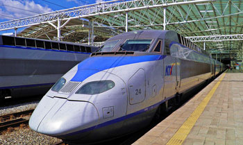 The South Korean bullet train. David Rich photos.